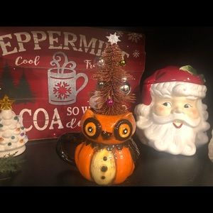 Johanna Parker Christmas Owl Mug Wreath